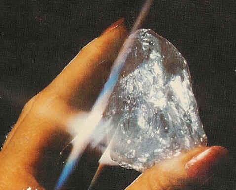 Een ruwe (ongeslepen) diamant