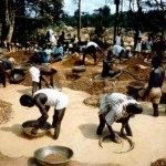 Diamant zeven in Sierra Leone
